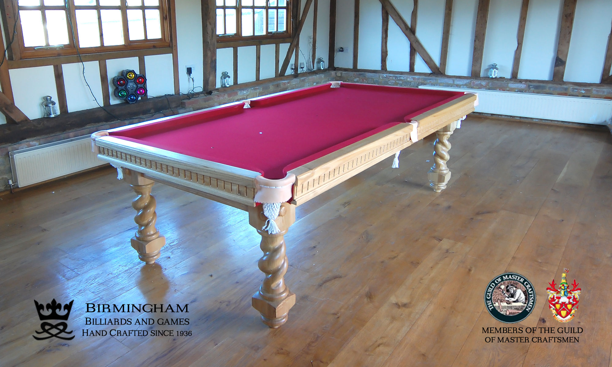 Barley twist pool tables