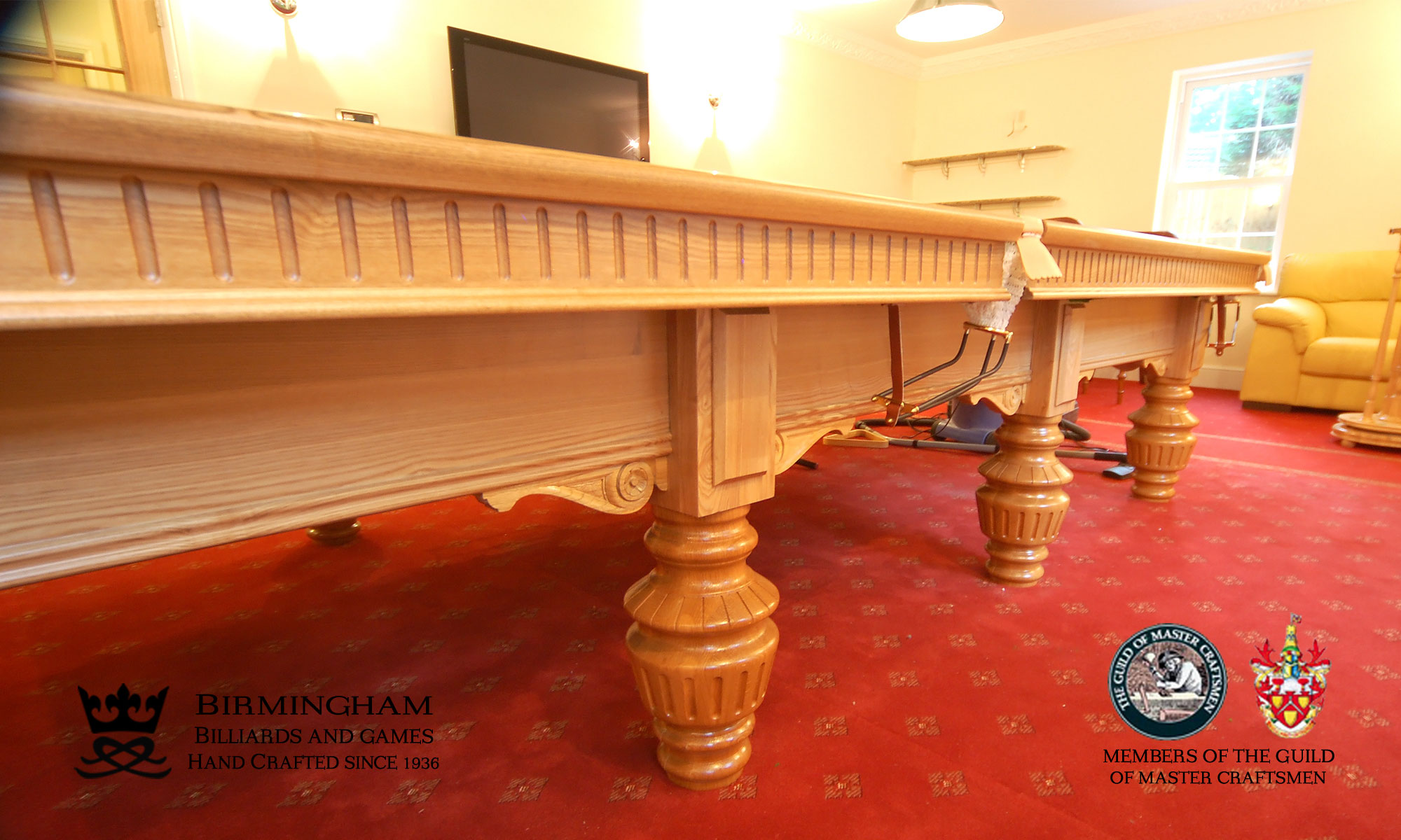 The classic monarch hand made pool tables