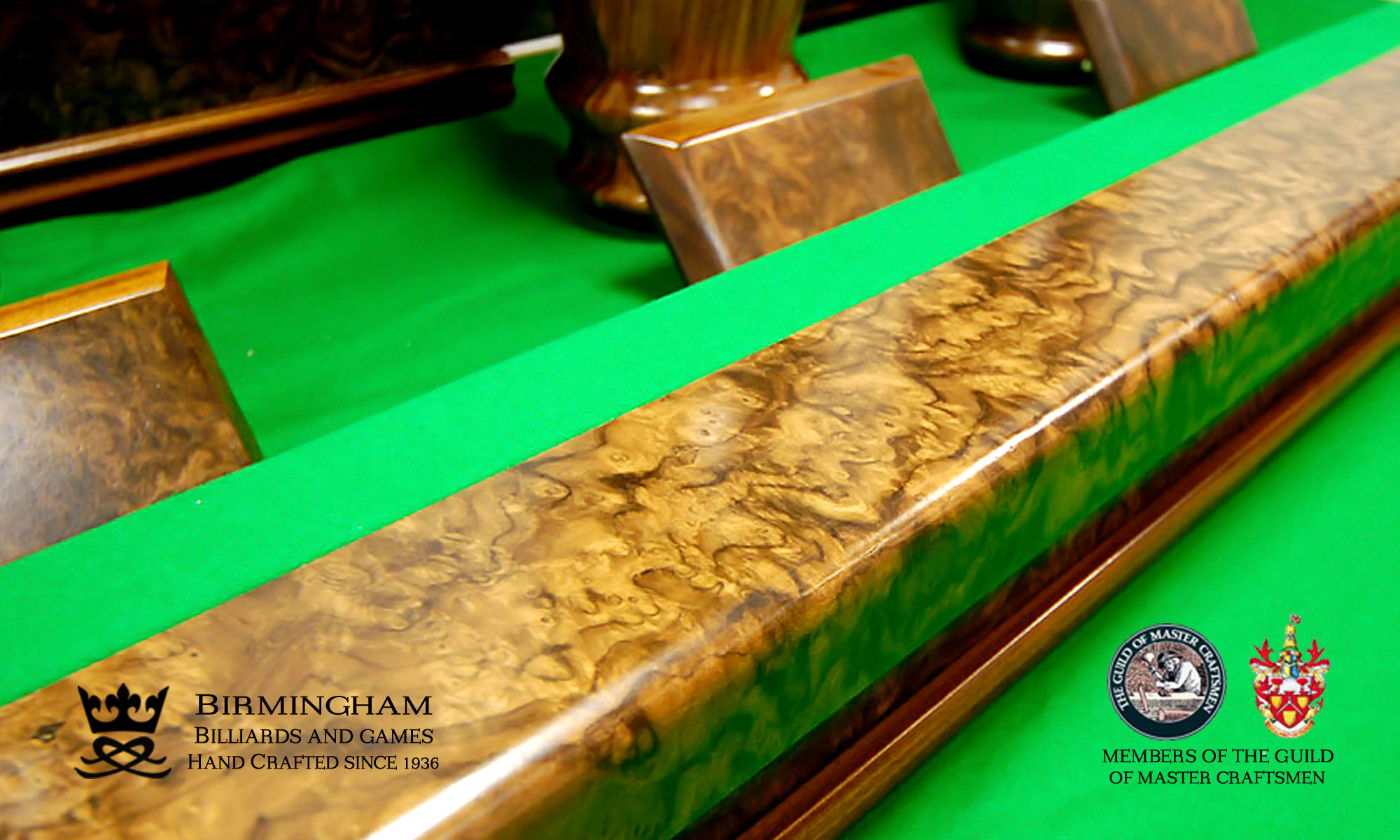 The Balmoral hand carved snooker table