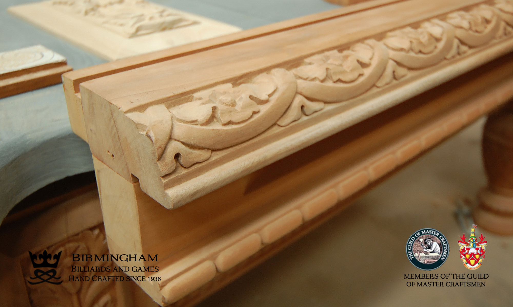 Hand carved Balmoral pool tables