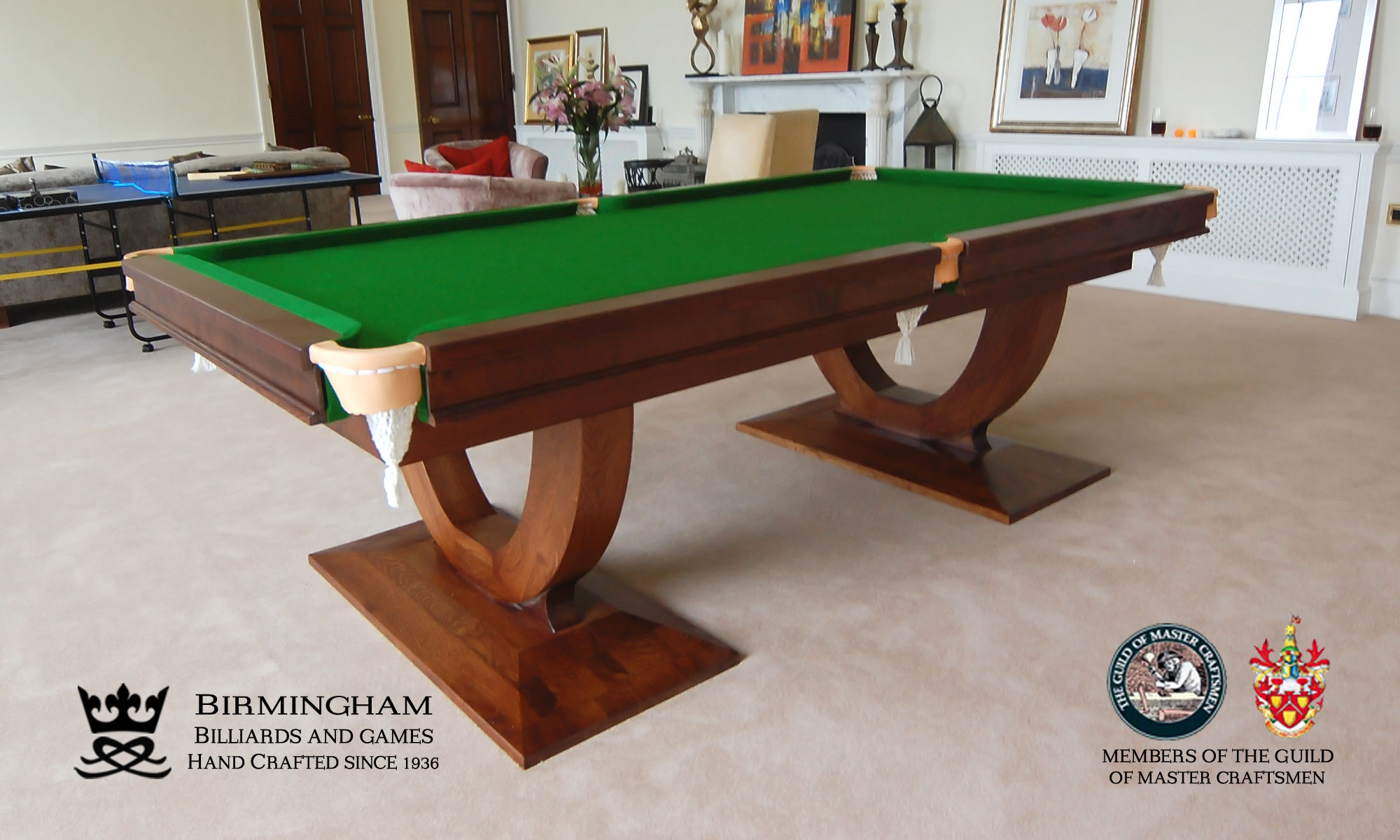 The mayfair hand made pool tables