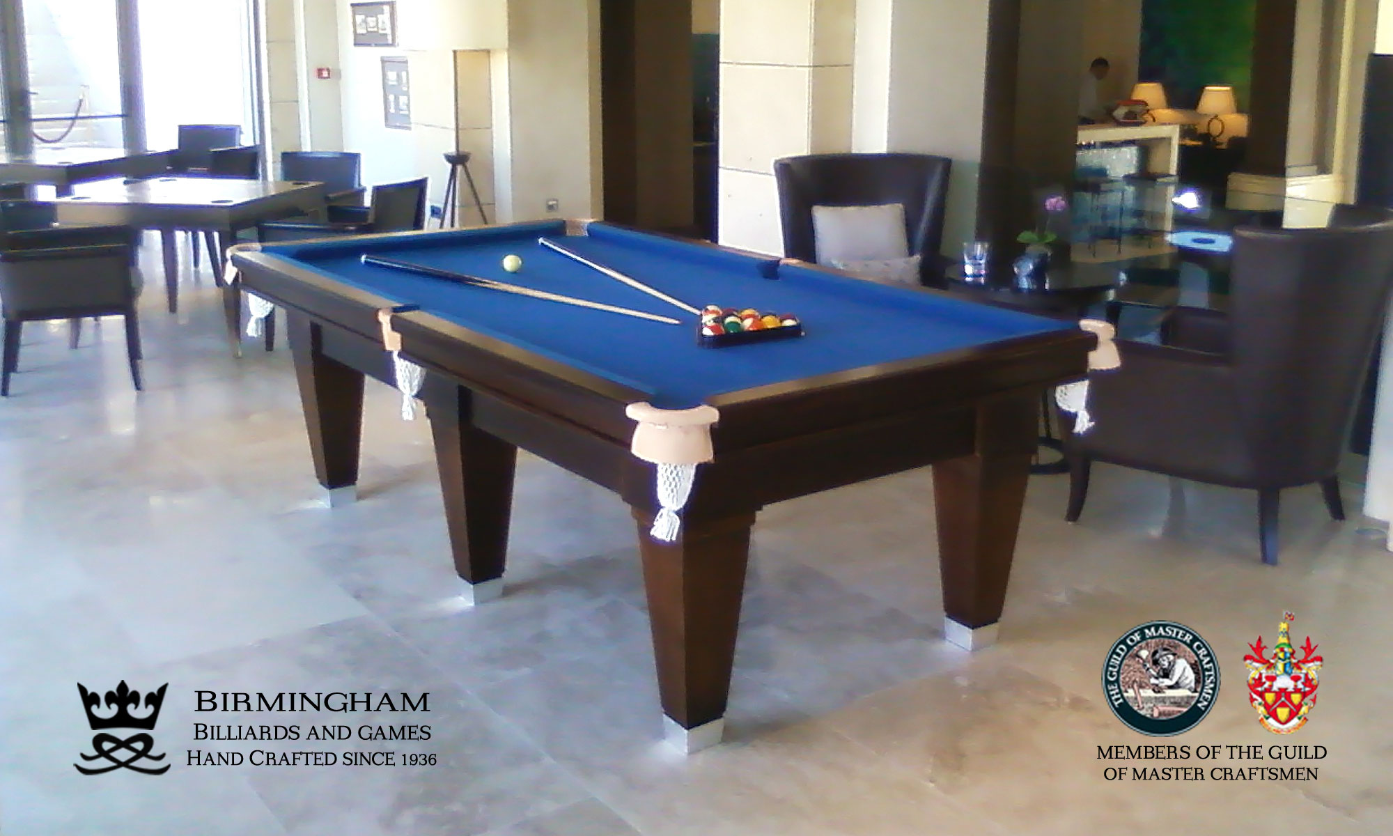 The Olympic hand made pool tables