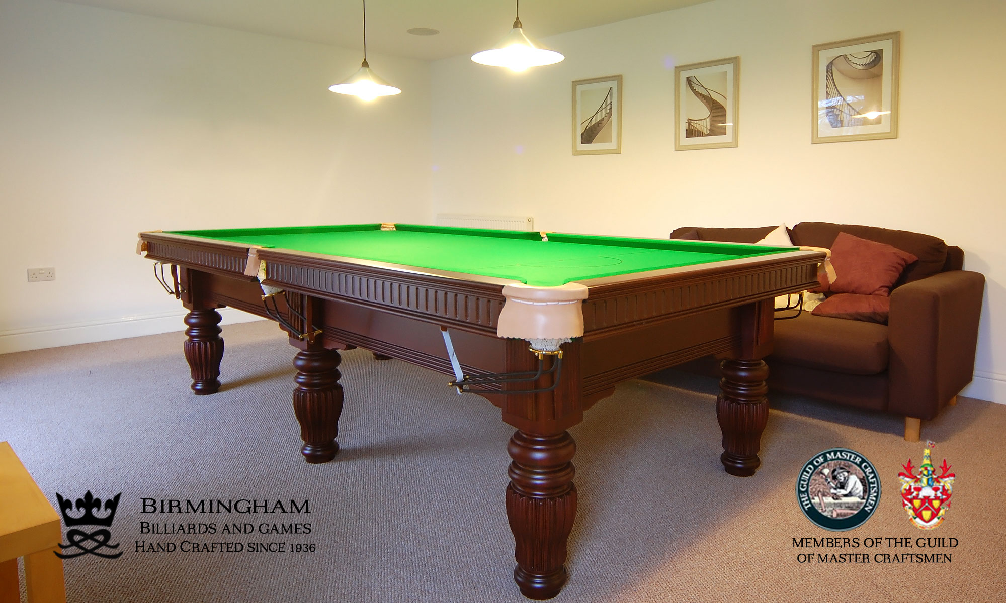 Solar hand made pool tables