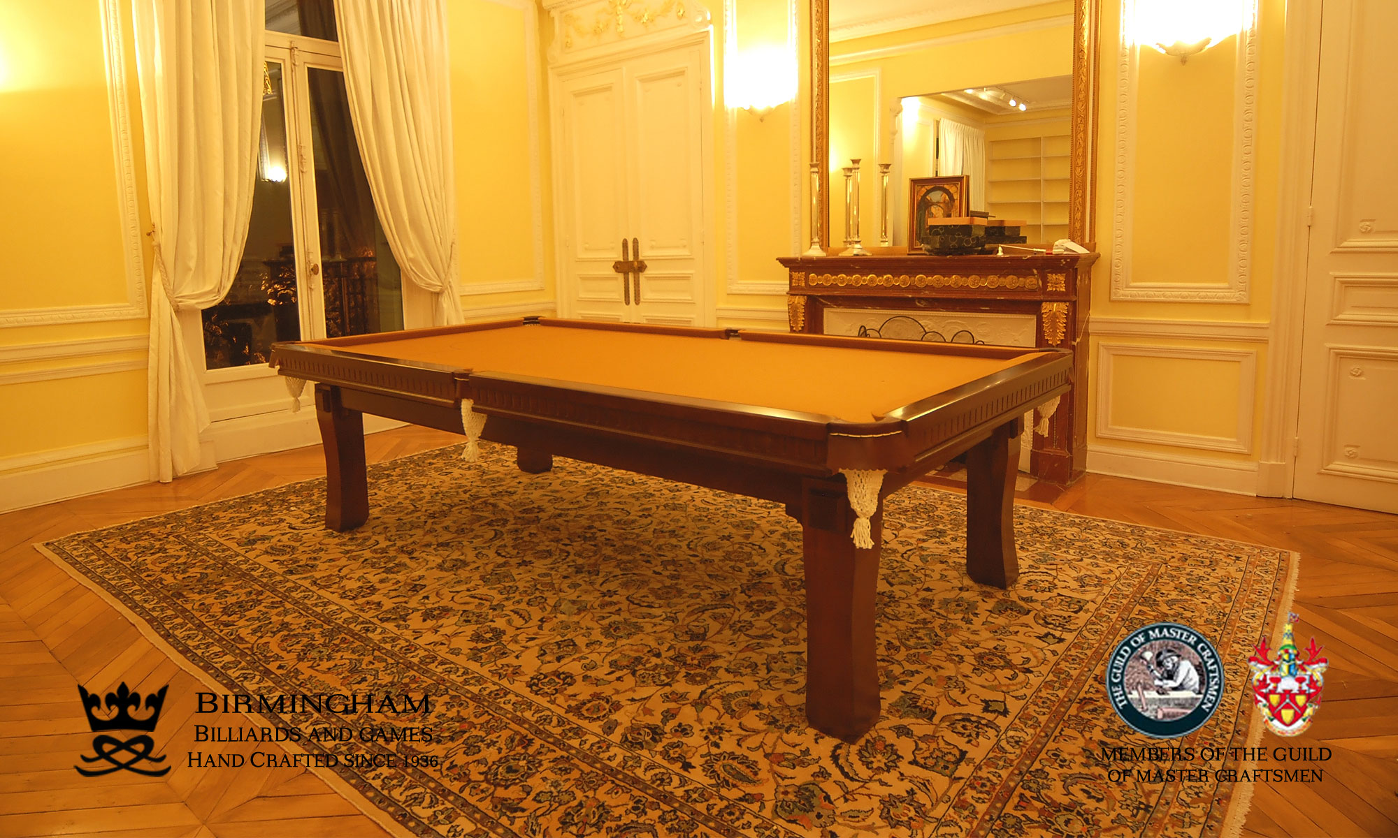The Savoy contemporary pool table , walnut finish