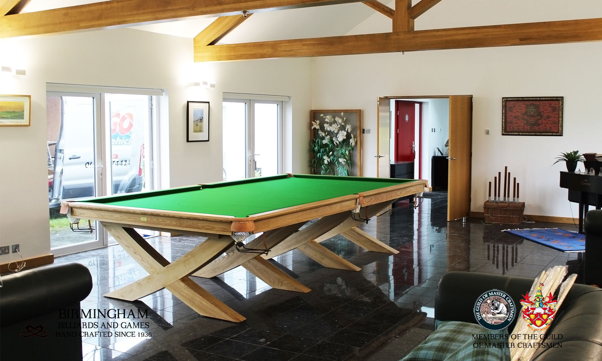 The X style, bespoke snooker table