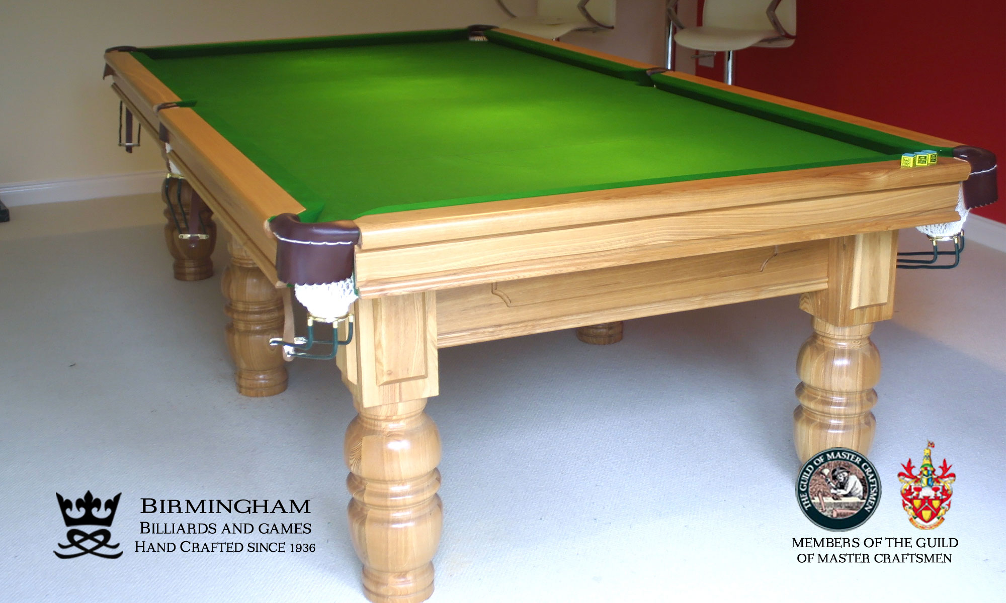 Timeless classic pool table, consort style, light oak