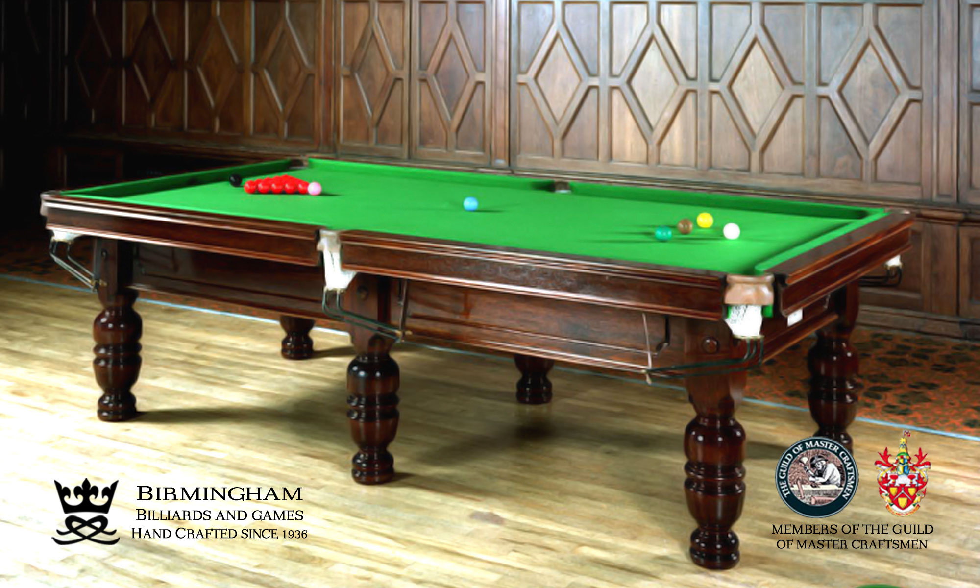 Timeless classic pool table, consort style