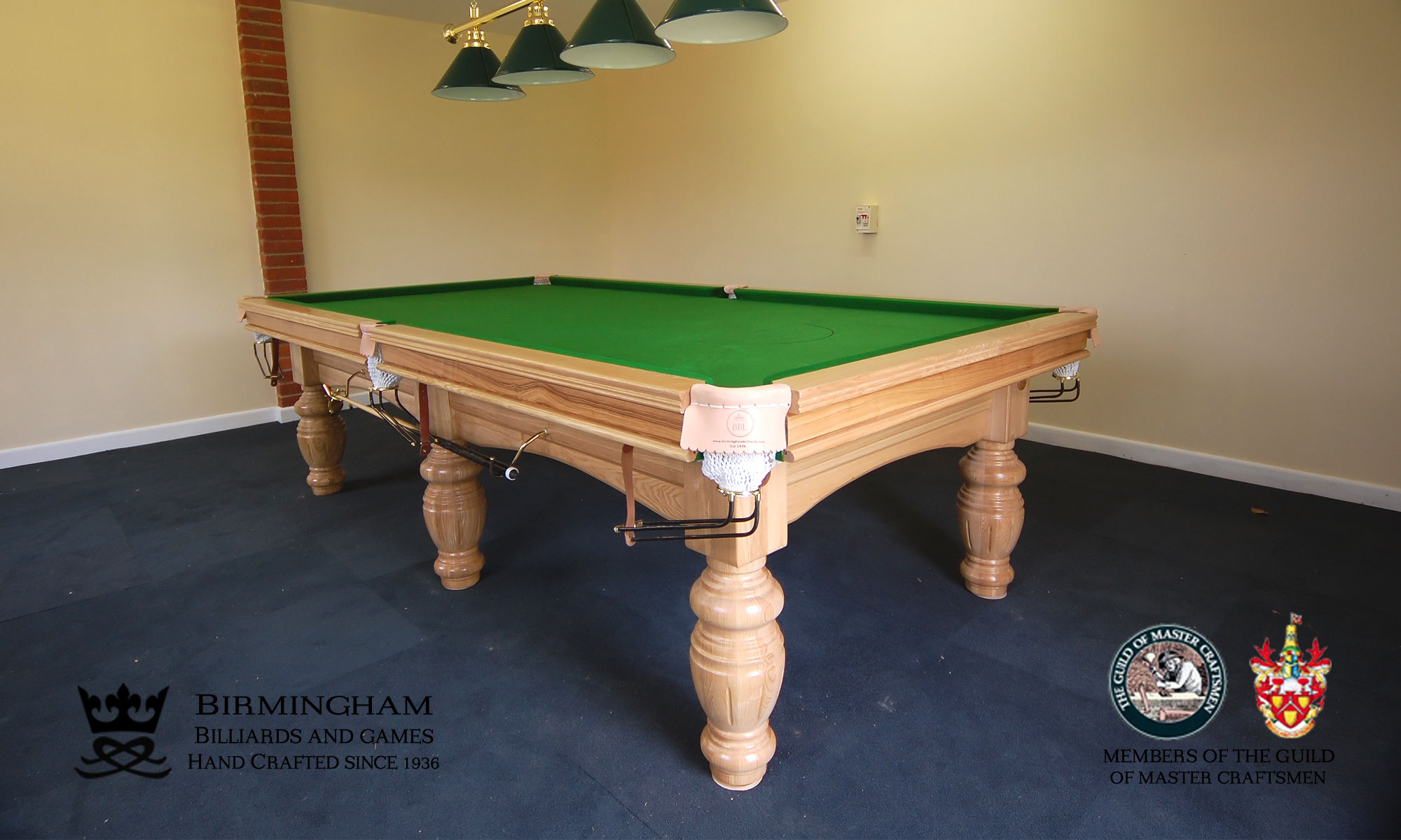 Timeless classic pool table, orme style, light oak