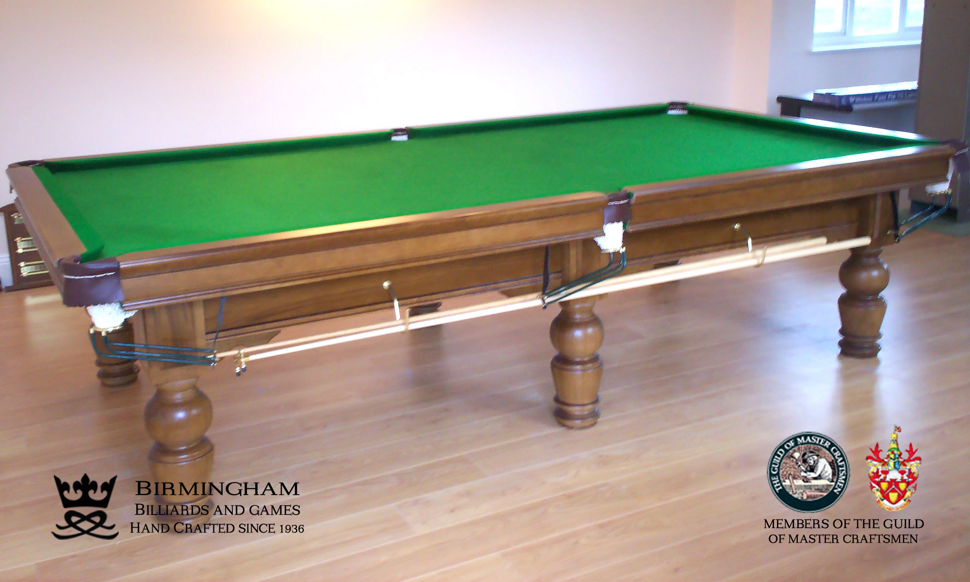 Timeless classic pool table, sovereign style, walnut finish