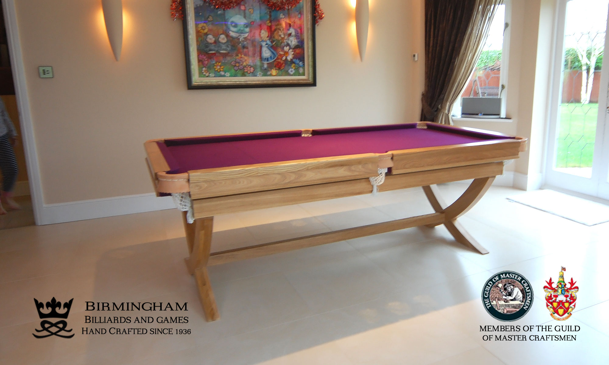 The X style range hand made pool tables