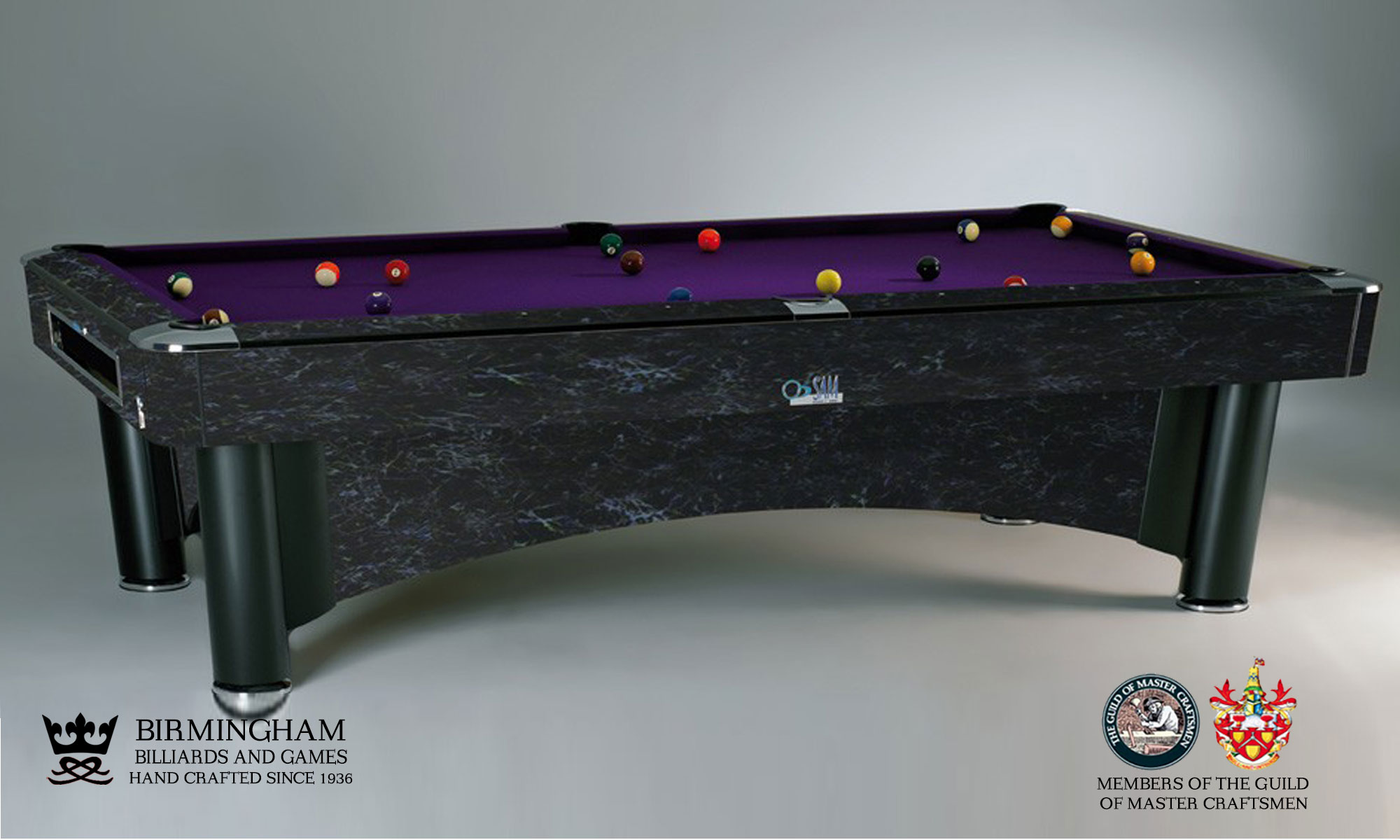 sam K Steel american pool table