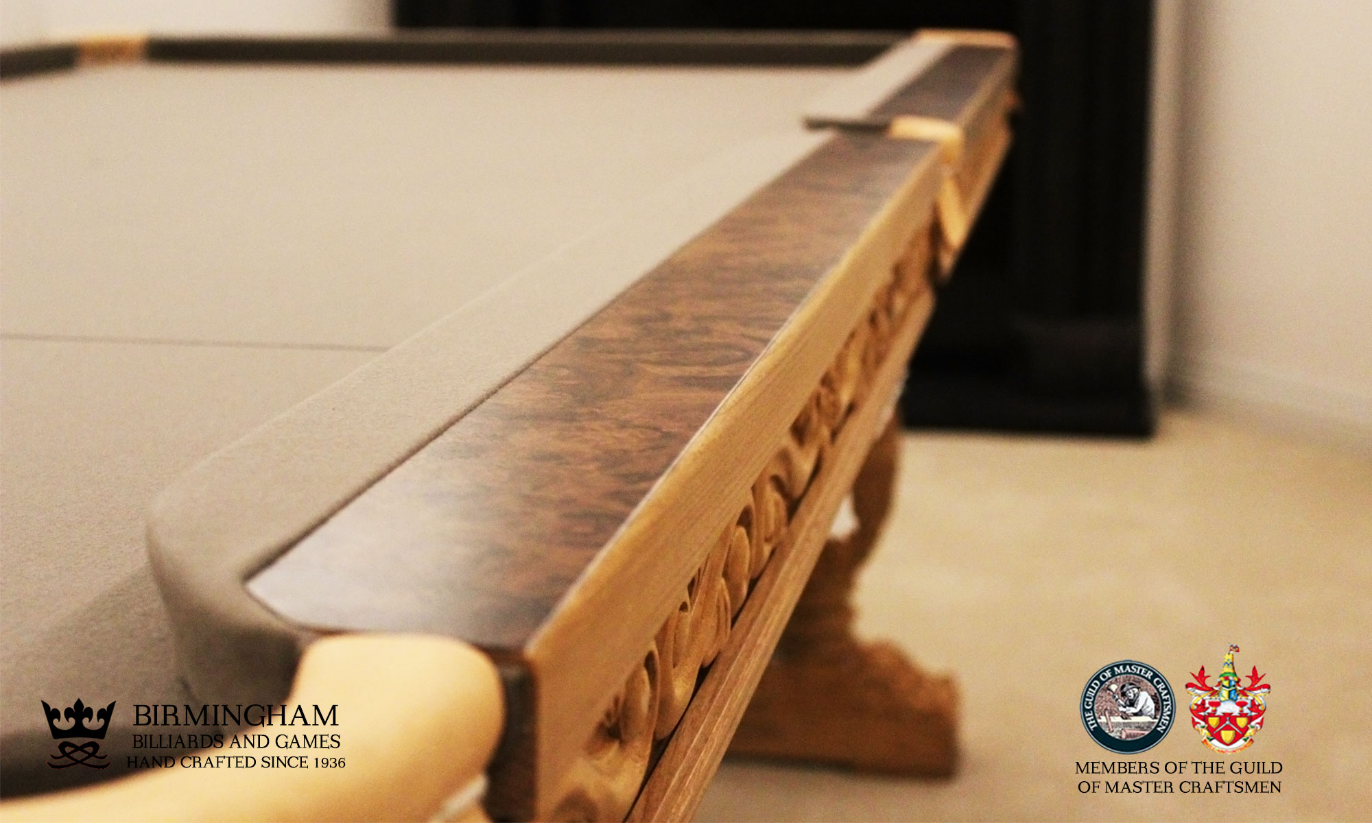 Balmoral hand carved snooker table