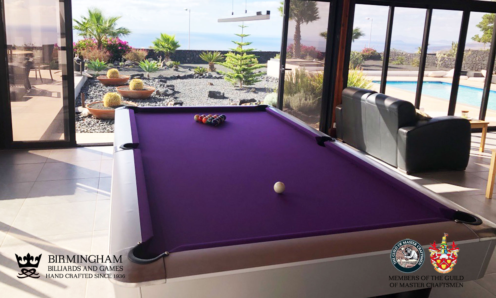 K steel USA pool table