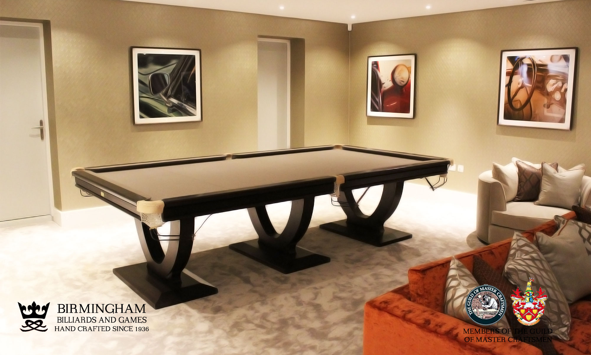 The Mayfair-Art Deco, Handmade pool table