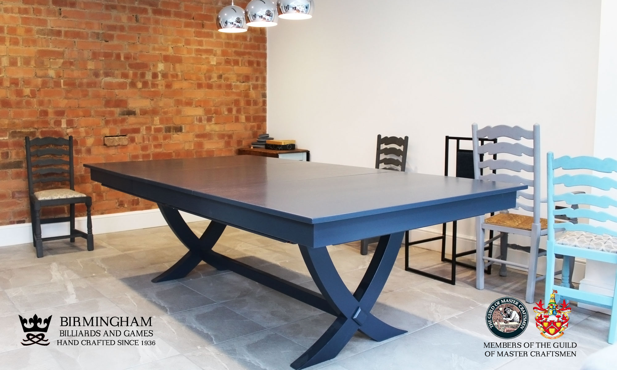 The X style snooker and pool dining table